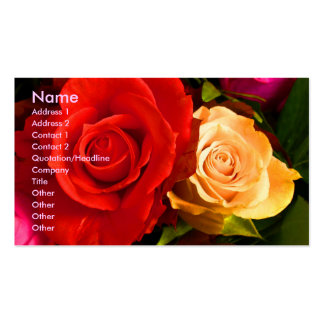 Red Yellow Rose Artist Business Card Business Card Templates
