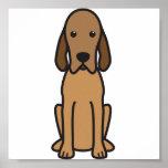 Redbone Coonhound-HundeCartoon Poster