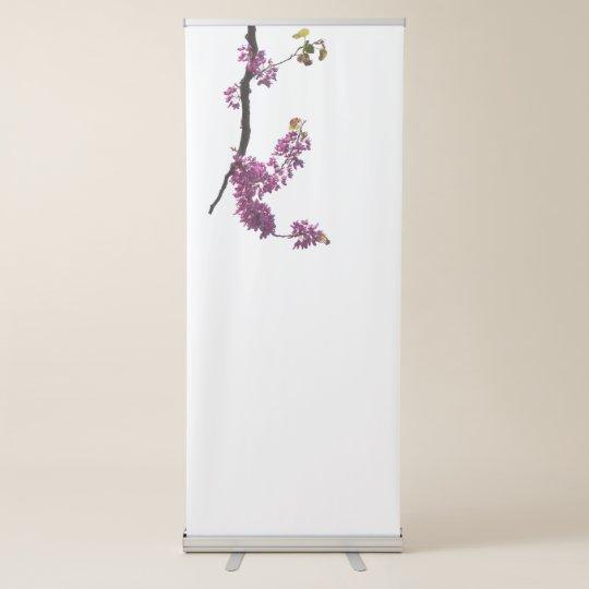 redbud siliquastrum in der Blüte im Garten Ausziehbarer Banner