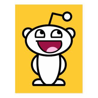 Reddit fantastisches Gesicht Postkarte