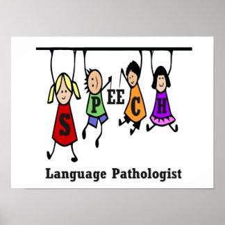 Rede-Sprachenpathologe-Kinder Poster