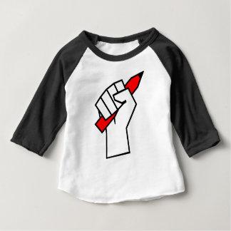 Redefreiheit-Bleistift in der Faust Baby T-shirt