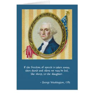 Redefreiheit durch George Washington Karte
