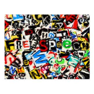 Redefreiheit-Illustration Postkarte