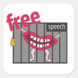 Redefreiheit! Quadratischer Aufkleber