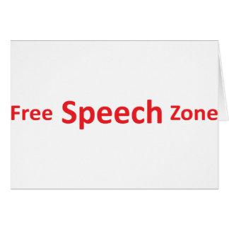 Redefreiheit-Zone, gerade Wörter Karte