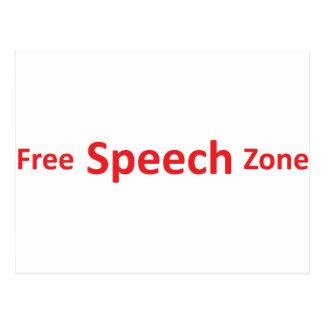 Redefreiheit-Zone, gerade Wörter Postkarte