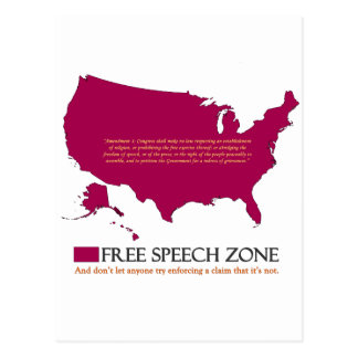 Redefreiheit-Zone Postkarte