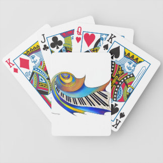Redemessia - gewundenes Klavier Bicycle Spielkarten