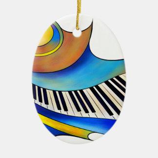 Redemessia - gewundenes Klavier Keramik Ornament