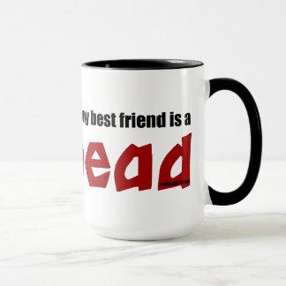 Redhead-bester Freund Tasse