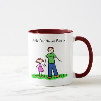 Redhead-Vater und Tochter-Tasse (fertigen Sie Tasse