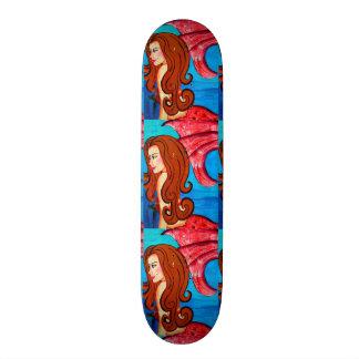 redheaded Meerjungfrau-Skateboard der Dreiergruppe Personalisierte Skateboarddecks