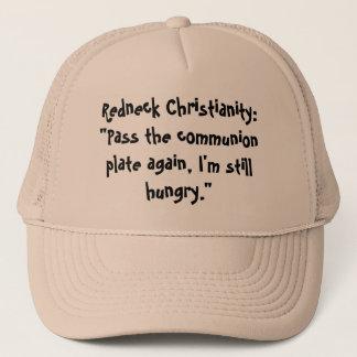 """Redneck-Christentum: """"Führen Sie die Truckerkappe"""