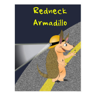 Redneck-Gürteltier-Postkarte Postkarte