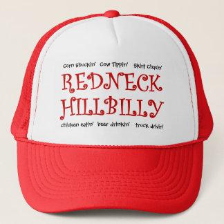 Redneck-Hinterwäldler - was tun Sie für Spaß? Truckerkappe