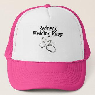 Redneck-Hochzeits-Ringe Truckerkappe