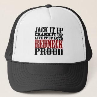 Redneck stolz (Schwarzes und Rot) Truckerkappe