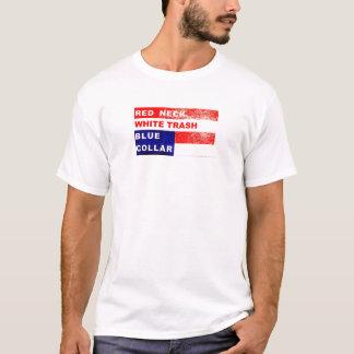 Redneck-weißer Abfall-blauer Kragen-Muskel-Shirt T-Shirt