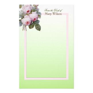 Redoute Bourbon Rosen-Blumenstrauß-Gewohnheit Briefpapier