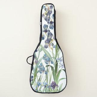 Redoute Iris-Blumen-Garten-weicher Gitarrentasche