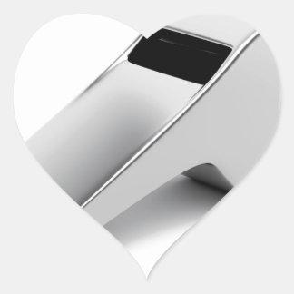 Referentpfeife Herz-Aufkleber