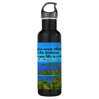 Reflektierend sein, inspirierend trinkflasche
