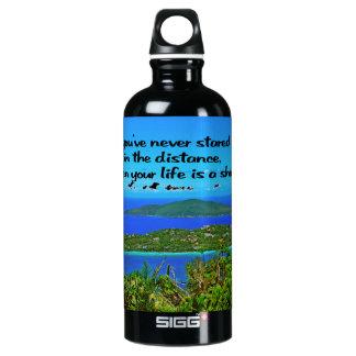 Reflektierend sein, inspirierend wasserflasche