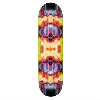 Reflektierendes spektralesabstraktes skateboard brett