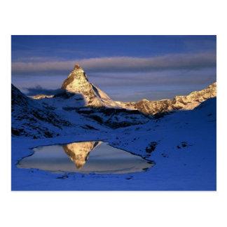 Reflektiertes Matterhorn, die Schweiz Postkarte