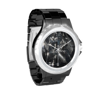 Reflektion in Schwarz - Armbanduhr