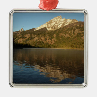 Reflexion an Jenny See großartigem Teton Silbernes Ornament