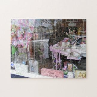 Reflexion im Ostern-Fenster-Puzzlespiel Puzzle