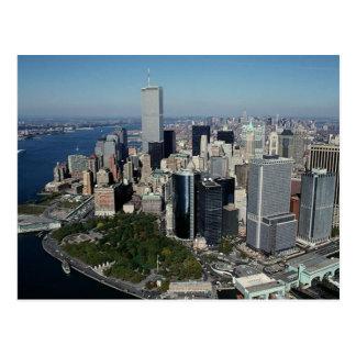 Reflexion PC Twin Tower View~ WTC NYC Manhattan Postkarte
