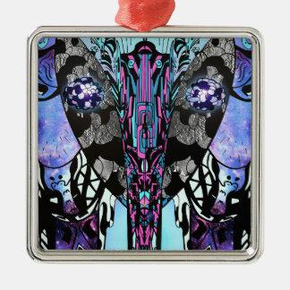 Reflexion Silbernes Ornament