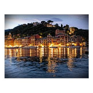 Reflexionen auf Portofino, Italien-Postkarte Postkarte