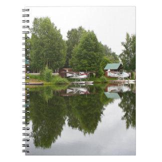 Reflexionen auf See-Haube, Anchorage, Alaska Notizblock