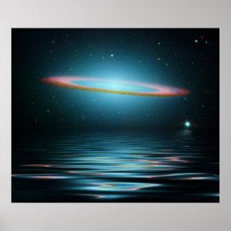 Reflexionen der Sombrero-Galaxie