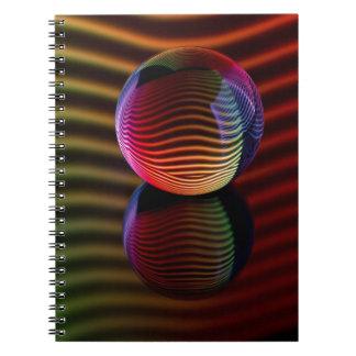 Reflexionen im Kristallball Spiral Notizblock