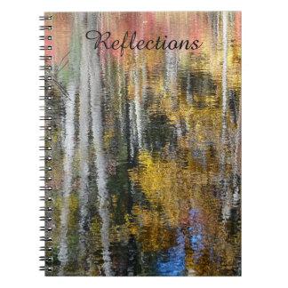 Reflexionen in der Farbe Notizblock