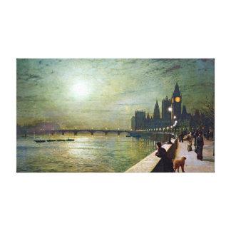 Reflexionen Johns Atkinson Grimshaw auf der Themse Leinwanddruck