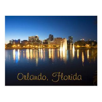 Reflexionen von Orlando, Florida vom Luzerner See Postkarte