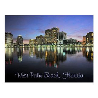 Reflexionen von West Palm Beach, Florida Postkarte