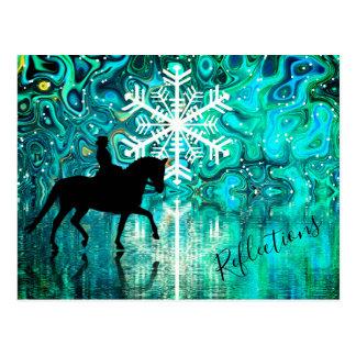 Reflexionendressage-Pferd, Postkarte