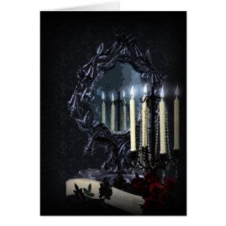 Reflexions-gotisches Fantasie-Hochzeit UAWG Karte