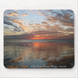 Reflexions-Sonnenuntergang, Kabel-Strand, Broome, Mousepad