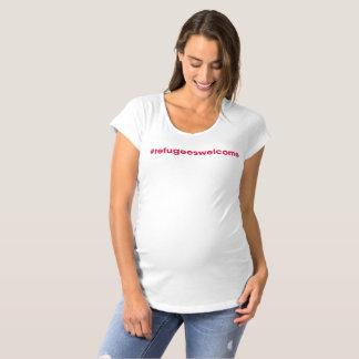 #refugeeswelcome Mutterschafts-T-Stück Schwangerschafts T-Shirt