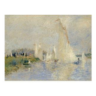Regatta in Argenteuil, 1874 (Öl auf canv Postkarte