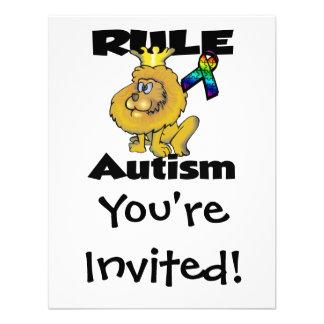 Regel-Autismus Ankündigungskarte