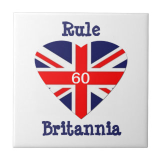 Regel Britannia! Herz des Jack-60-Union Keramikfliese